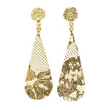 gold dangle earrings tear drop earrings monika knutsson