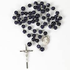 mens rosary blue sandstone rosary rosaries and chaplets by sue