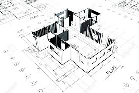 3d home sketch project of a house in d sketch stock photo