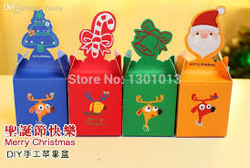 candy wholesale 2017 wholesale christmas gift sweet box diy paper cracker box bag