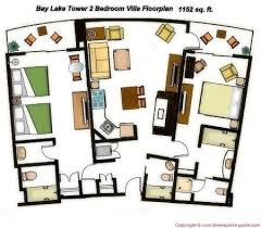 disney bay lake tower floor plan bay lake tower at disney s contemporary resort 2 bedroom villa