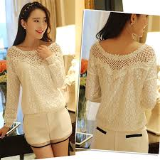 new 2016 spring women long sleeve fashion lace floral patchwork