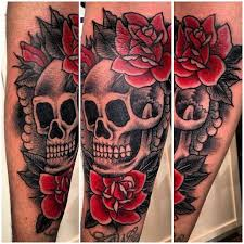roses and skull forearm tattoos photo 2 2017 real photo