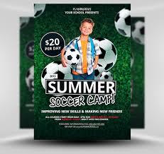 fancy brochure templates free summer soccer c flyer template