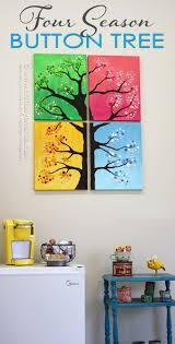 button tree wall art 4 seasons colorful button tree
