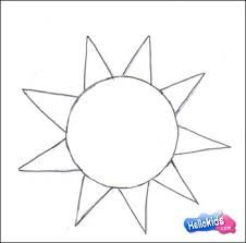 how to draw how to draw a smiling sun hellokids com