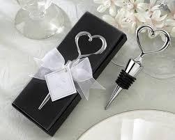 chrome heart wine bottle stopper wedding favor