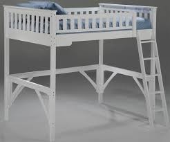 spices collection ginger twin size loft bed in white finish