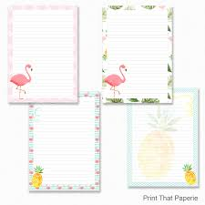 letter writing paper printable flamingo printable writing paper stationary paper letter this is a digital file