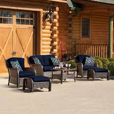 Wicker Patio Furniture Shop Hanover Outdoor Furniture Strathmere 6 Piece Wicker Patio
