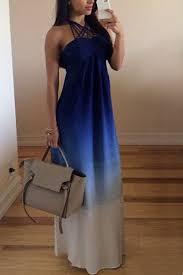 light blue halter maxi dress halter neck ombre sleeveless dress light blue maxi dresses zaful