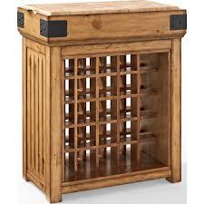 crosley cf4204 na roots bistro wine island bar cabinet in rustic