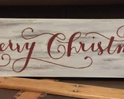 signs and decor merry christmas sign etsy