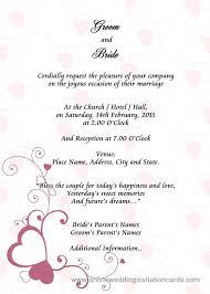 wedding invitation online online wedding invitation and sle wedding card invitation