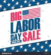 Usa Flag For Sale United States Labor Day Sale Banner Stock Vector 696533152