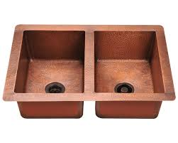 Double Equal Bowl Copper Sink - Copper sink kitchen