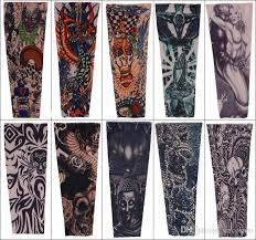 2018 fashion nylon tattoo sleeve stretchy arm stocking mix 108