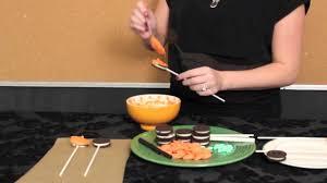 easy halloween treats chocolate covered oreo pumpkins youtube