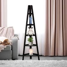 casual home espresso 5 shelf corner ladder bookcase 176 33 the