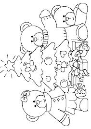Coloriage noel sapins nounours sur Hugolescargotcom