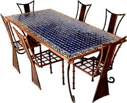 tile patio table set moroccan dining mosaic table contemporary 4 ideas jsmentors 43