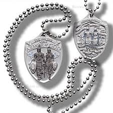 armor of god necklace armor of god dog tag pendant with thick chain