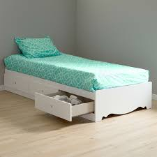 Platform Bed Drawers Size White Wood Platform Bed Daybed With Storage Drawers