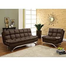 amazon com aristo bi cast leather convertible sofa and chair set
