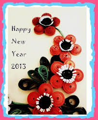 happy new year paper cards happy new year quiling card by rajlakshmi on deviantart