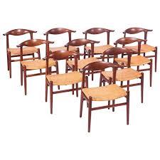 Hansen Patio Furniture by Rare Set Of Ten Hans Wegner Cow Horn Chairs For Johannes Hansen