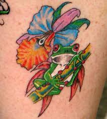 frog without the flower tattoos frogs tribal
