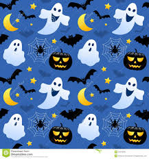 cartoon ghost and pumpkin seamless halloween pattern background
