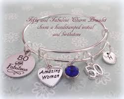 birthday charm bracelet 50th birthday gift birthday gift for best friend
