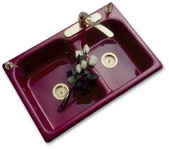 Colored Sinks Kitchen Colored Kitchen Sinks Bowl Porcelain Looks With Cast Iron