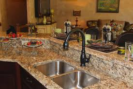 Kitchen Top Materials Mesmerizing Kitchen Design With Granite Table Top Also Arranged