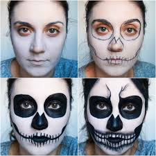 Halloween Skeleton Faces by Beauty With Charm Halloween Skull Makeup