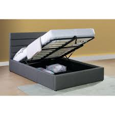 Ottoman Storage Bed Frame by Grey Fabric Ottoman Storage Bed
