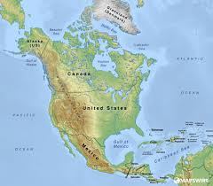North America Maps by Free Physical Maps Of North America U2013 Mapswire Com