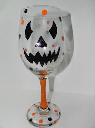 wine glasses fall u0026 halloween handcraftedby2
