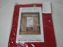 Brentwood Originals Curtains Brentwood Originals Brushed Twill Button Window Valance 54x14