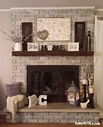 Diy Fireplace Cover Up Best 25 Fireplace Update Ideas On Pinterest Brick Fireplace