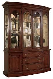 american drew cherry grove canted china cabinet traditional