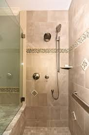 stand up shower bathroom contemporary with beige tile flooring