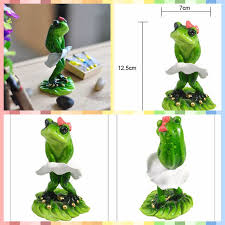 Frog Desk Accessories Free Shipping Frog Family Mini Figures Skirt Styles