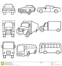 truck car black set icons symbols car truck bus stock vector image 55917904