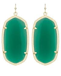 green earrings danielle gold statement earrings in green kendra