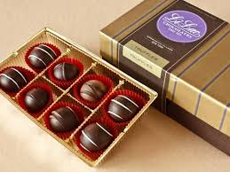 gourmet chocolate truffles gift box 16 pcs li lac chocolates