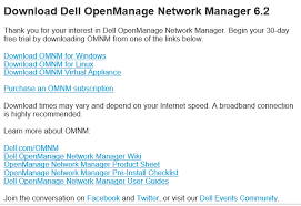 dell openmanage network manager 6 2 appliance install and