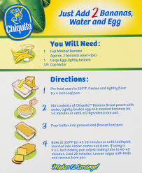 chiquita banana bread mix 13 7 oz walmart com