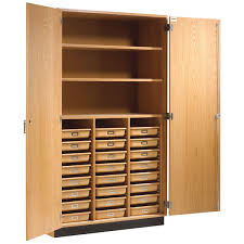 wood storage cabinets with doors and shelves contemporary home office with wooden inner cabinet shelves and light